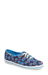 Kedsr For Kate Spade New York Women's Keds Kick Print Sneaker Peacock Blue Floral Canvas