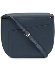 Valextra Hobo Shoulder Bag Blue
