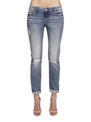 Cult Of Individuality Distressed Five Pocket Jeans Wyona
