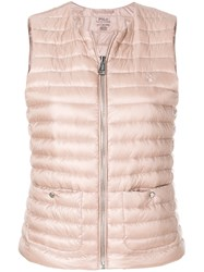 Polo Ralph Lauren Quilted Down Vest Pink And Purple