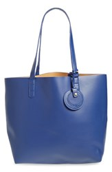 Dirty Ballerina Reversible Faux Leather Tote Blue Navy