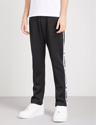 A Bathing Ape Logo Tape Sports Jersey Jogging Bottoms Black