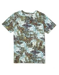 Hype X The Idle Man Electric Crystal All Over Print T Shirt Green