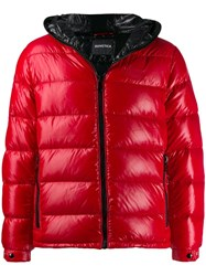 Duvetica Hooded Padded Jacket Red