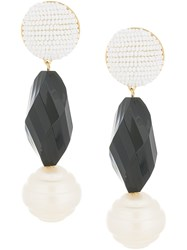 Shourouk Beaded Drop Earrings Black