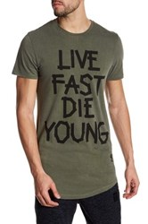 Religion Live Fast Front Graphic Print Tee Black