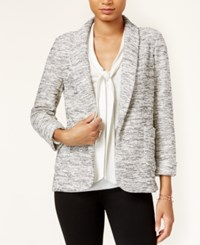 Maison Jules Three Quarter Sleeve Knit Blazer Only At Macy's Gray Combo