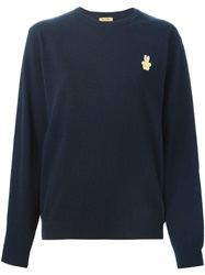 Peter Jensen Bunny Patch Sweater Blue