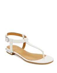 Marc By Marc Jacobs Studded Heel T Strap Sandals White