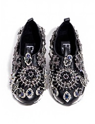 Pixie Market Jeffrey Campbell Aleksa Jeweled Slip On Sneaker