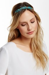 Cara Accessories Beaded Chain Headwrap Blue