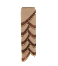Y Project Beaded Asymmetric Skirt Brown