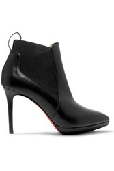 Christian Louboutin Crochinetta 100 Leather Ankle Boots Black