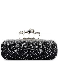 Alexander Mcqueen Swarovski Studded Leather Clutch Black