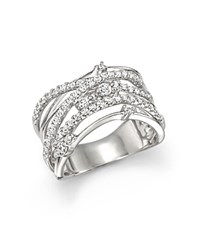 Bloomingdale's Diamond Crossover Statement Ring In 14K White Gold .85 Ct. T.W.