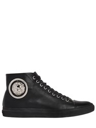 Versus Lion Leather High Top Sneakers