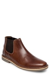 Steve Madden Horus Mid Top Chelsea Boot Cognac Leather
