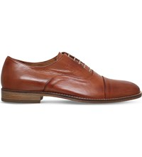 Kurt Geiger Teddy Burnished Leather Shoes Brown