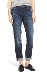 Kut From The Kloth Women's Catherine Distressed And Patched Boyfriend Jeans