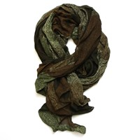 Lords Of Harlech Patchwork Camo Scarf In Olive Green Neutrals