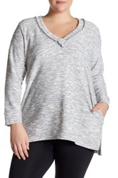 14Th And Union Tweeded Tunic Plus Size White