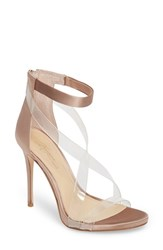 Imagine By Vince Camuto 'S 'Devin' Sandal Clear Warm Taupe Satin