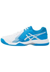 Asics Gelgame 6 Clay Outdoor Tennis Shoes White Diva Blue Silver