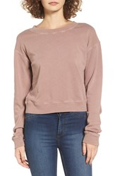 Women's Bp. Cotton Fleece Crewneck Sweatshirt Tan Antler