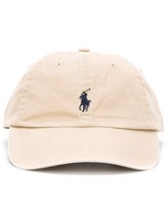 Polo Ralph Lauren Embroidered Logo Baseball Cap Nude And Neutrals