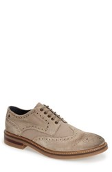 Men's Base London 'Woburn' Spectator Shoe Sand Suede Linen