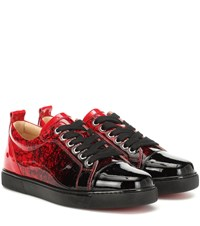 Christian Louboutin Exclusive To Mytheresa Louis Junior Woman Leather Sneakers Red