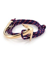 Miansai Half Anchor Triple Wrap Rope Bracelet Navy Multi