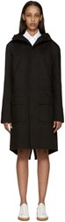 Raf Simons Black Canvas Isolated Heroes Coat