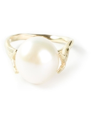 Wouters And Hendrix Gold 'Pearl' Ring White