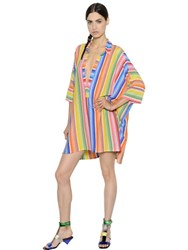 Missoni Oversize Striped Viscose Knit Polo Dress