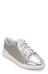 Foot Petals Andi Sneaker Silver Leather