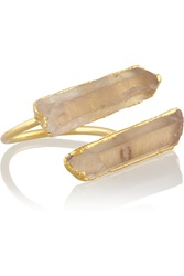 Dara Ettinger Robin Gold Plated Quartz Ring