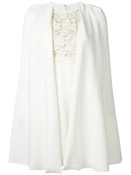 Giambattista Valli Embroidered Flower Dress White