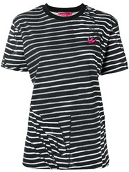 Mcq By Alexander Mcqueen Striped T Shirt Black