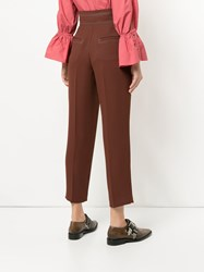 Aula High Waisted Trousers Brown