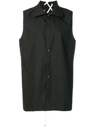 D.Gnak Sleeveless Design Shirt Black