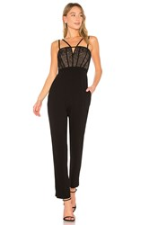 Bcbgmaxazria Patrycia Sleeveless Jumpsuit With Lace In Black