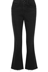 Helmut Lang Cropped High Rise Straight Leg Jeans Black