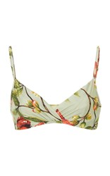 Lenny Niemeyer Crossover Rushed Bikini Top Floral
