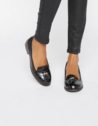 Miss Kg Flat Tassle Loafers Black