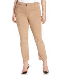 Jones New York Signature Plus Size Jeans Ankle Length Colored Skinny Pebble