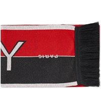 Givenchy Logo Football Scarf Red