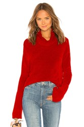 525 America Chenille Turtleneck Red