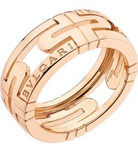 Bulgari Parentesi 18Ct Pink Gold Ring