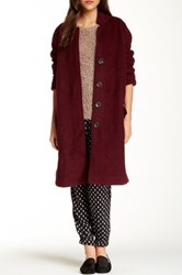 Free People Long And Lean Overcoat Red